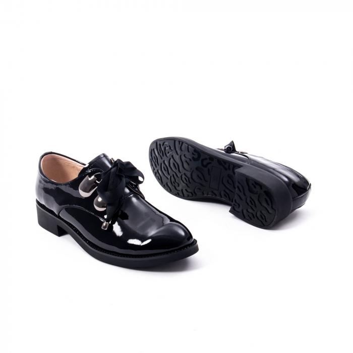 Pantofi casual dama din piele naturala Epica jixs320-01,negru lac 5