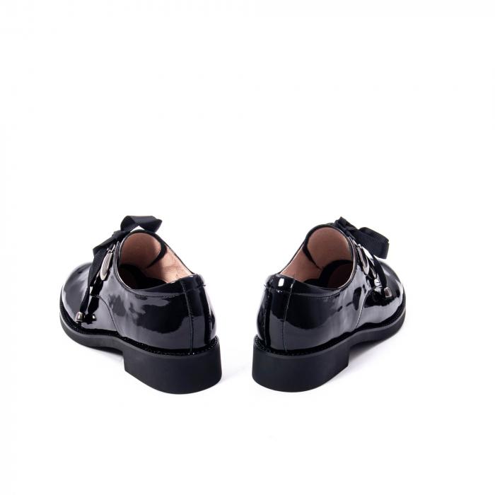 Pantofi casual dama din piele naturala Epica jixs320-01,negru lac 6