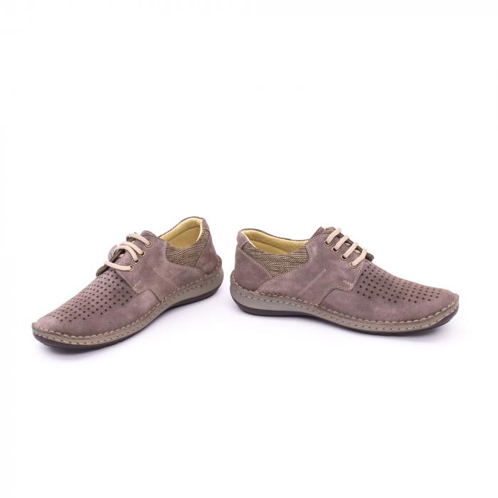 Pantofi barbati de vara, piele naturala nabuc, Otter 9560,  gri 5