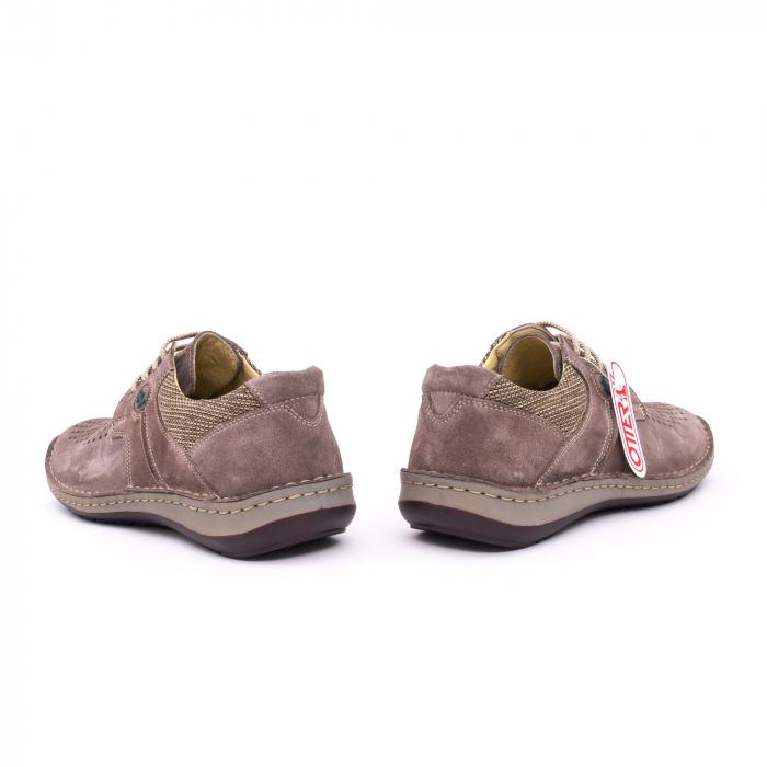 Pantofi barbati de vara, piele naturala nabuc, Otter 9560,  gri 4