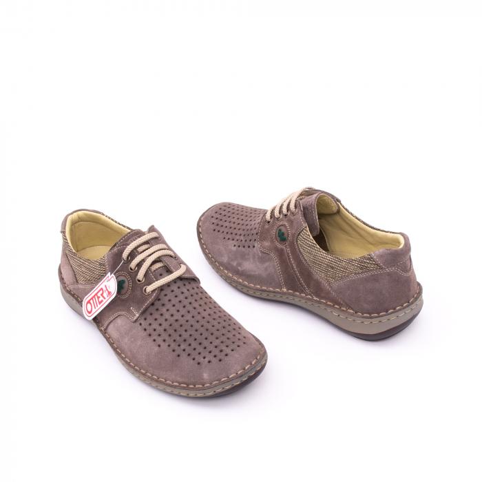 Pantofi barbati de vara, piele naturala nabuc, Otter 9560,  gri 3