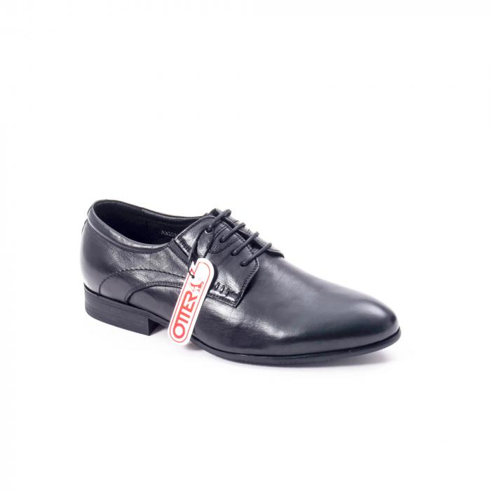 Pantofi eleganti barbat din piele naturala Otter QRA33531 01-N,negru 0