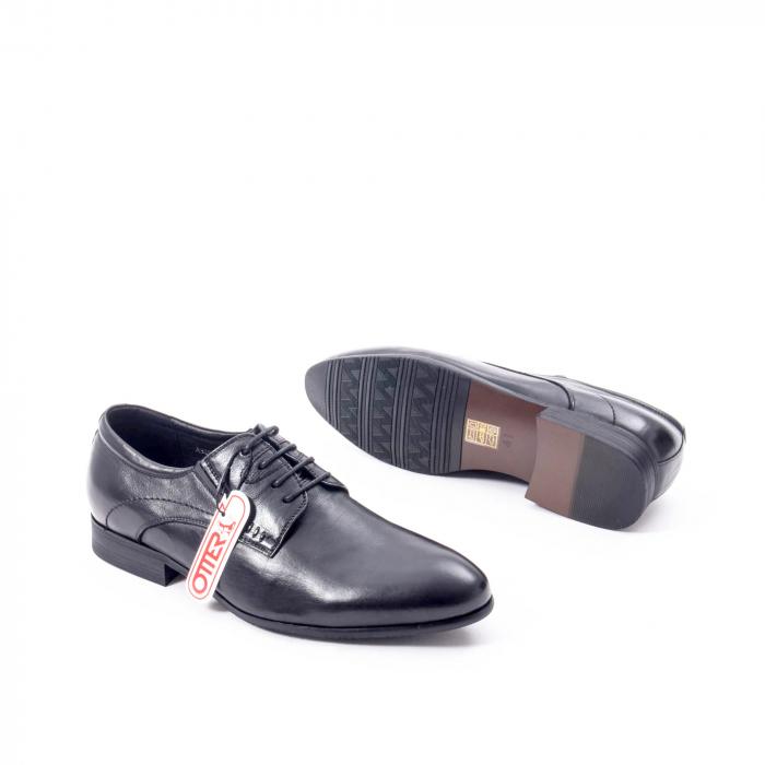 Pantofi eleganti barbat din piele naturala Otter QRA33531 01-N,negru 3