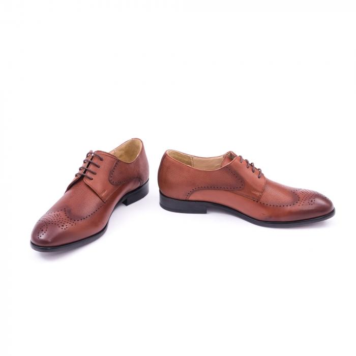 Pantofi barbati eleganti piele naturala Nevalis 116, coniac 4