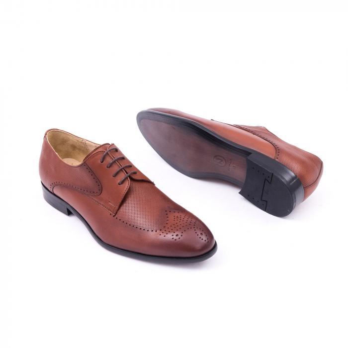 Pantofi barbati eleganti piele naturala Nevalis 116, coniac 3