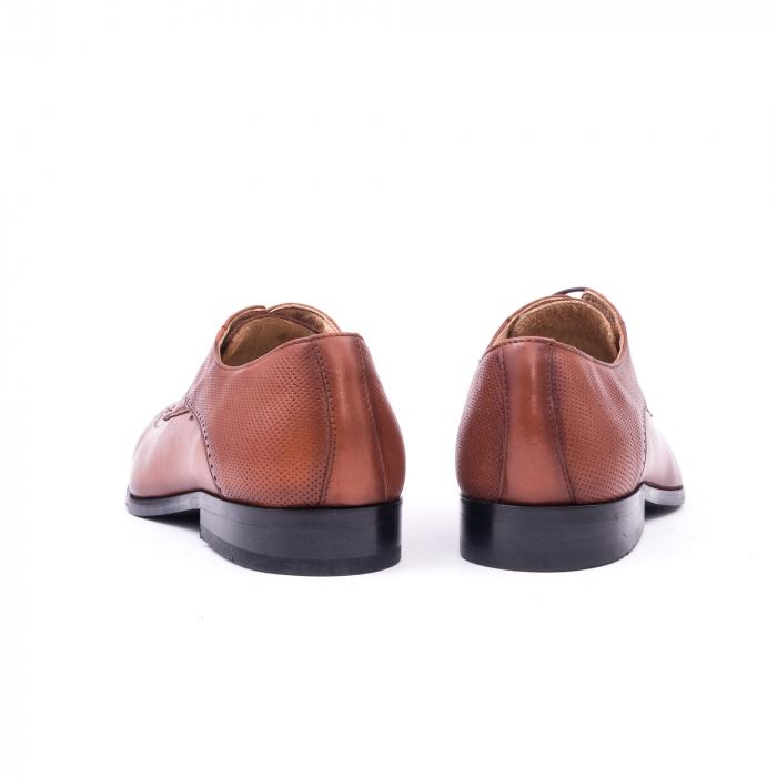 Pantofi barbati eleganti piele naturala Nevalis 116, coniac 6