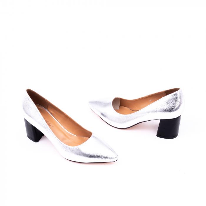 Pantofi eleganti dama 945 argintiu 2