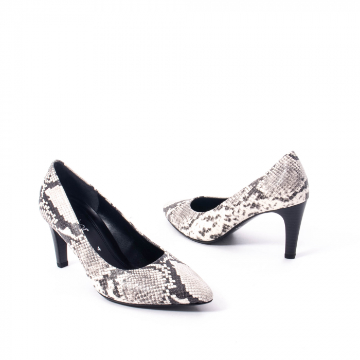 Pantofi eleganti dama piele naturala Gabor 3138030, python grau 2