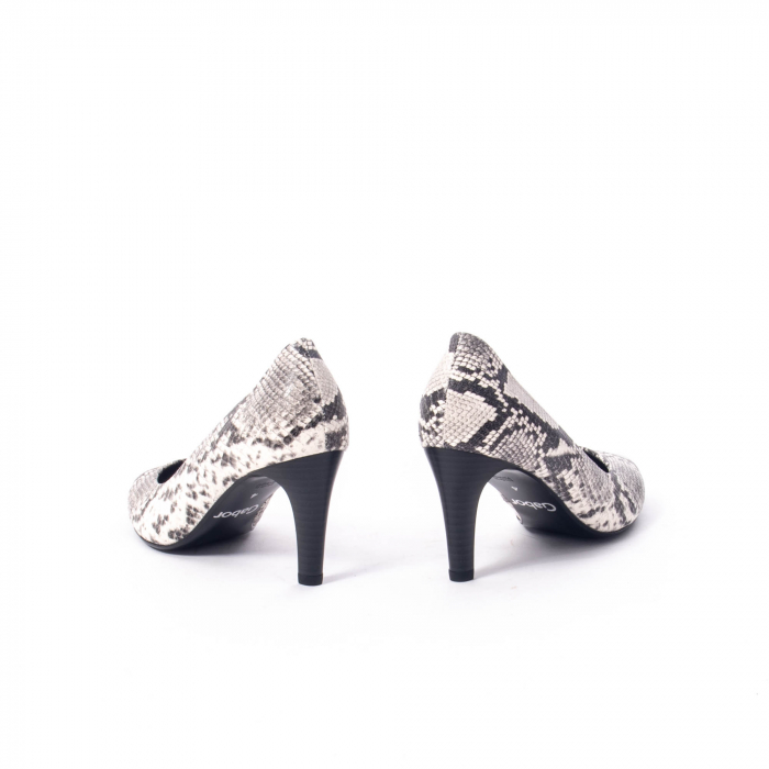 Pantofi eleganti dama piele naturala Gabor 3138030, python grau 6