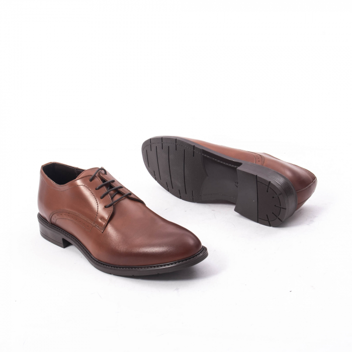 Pantofi eleganti barbati piele naturala, Catali 192545 coniac 3