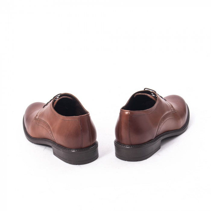 Pantofi eleganti barbati piele naturala, Catali 192545 coniac 6