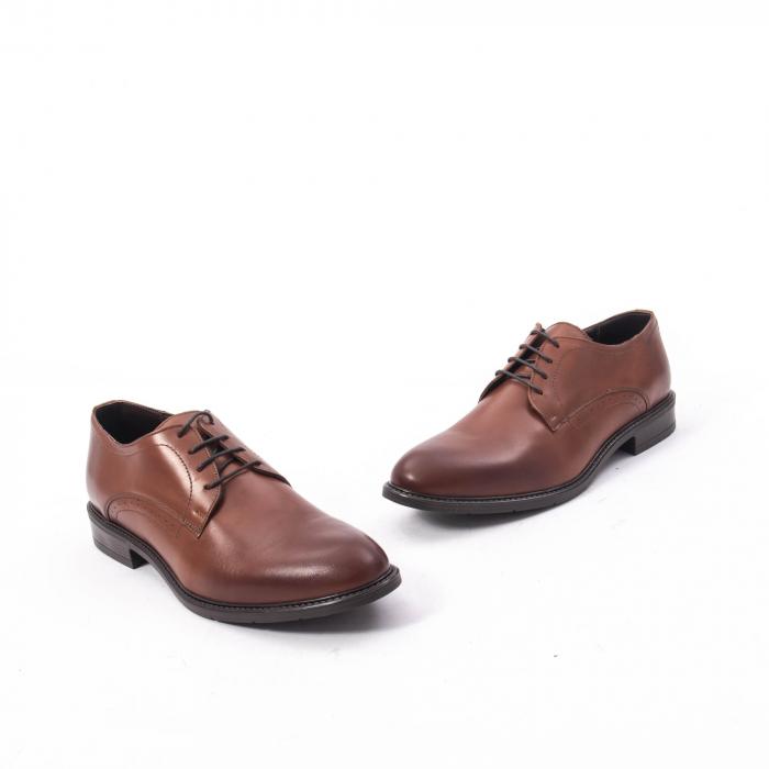 Pantofi eleganti barbati piele naturala, Catali 192545 coniac 1