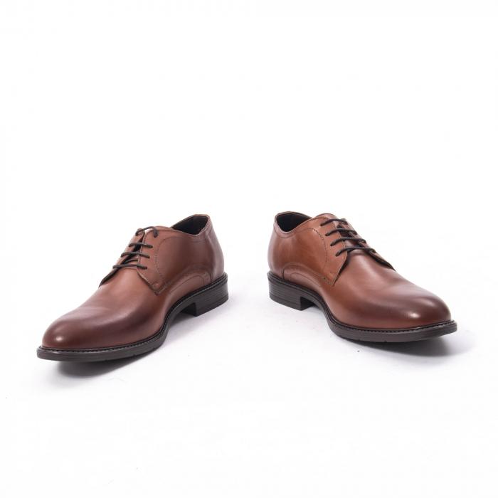 Pantofi eleganti barbati piele naturala, Catali 192545 coniac 4