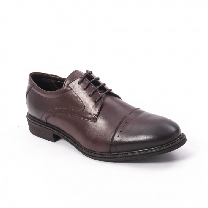Pantofi eleganti de barbat,piele naturala Catali 172558 maro 0