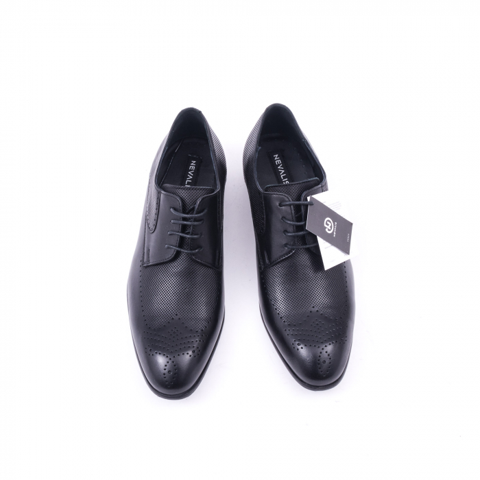 Pantofi barbati eleganti piele naturala Nevalis 116, negru 5