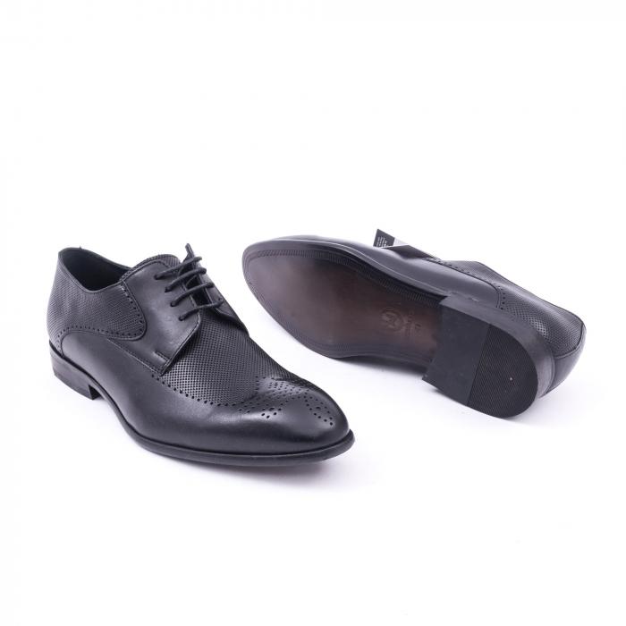 Pantofi barbati eleganti piele naturala Nevalis 116, negru 3