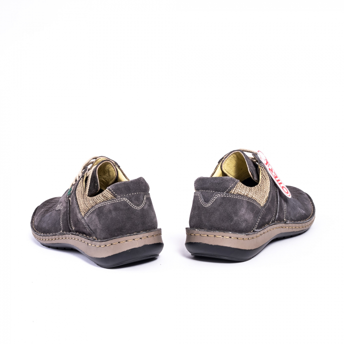 Pantofi vara barbati piele naturala nabuc Otter 9560 42-I gri inchis 6