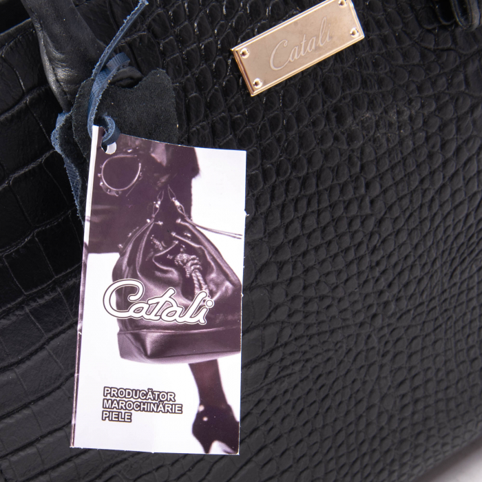Poseta dama model Catali 254 negru croco 1