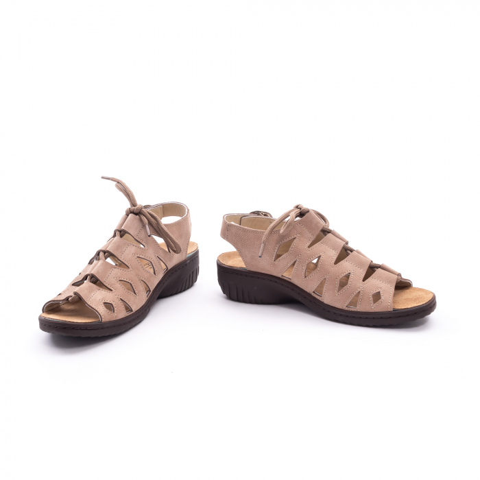 Sandale dama casual piele naturala nabuc Pass 450 03-2, bej 4