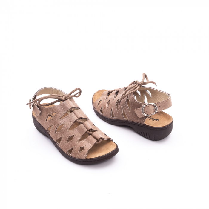 Sandale dama casual piele naturala nabuc Pass 450 03-2, bej 3