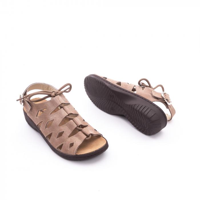 Sandale dama casual piele naturala nabuc Pass 450 03-2, bej 2