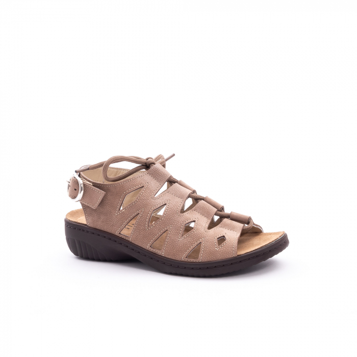 Sandale dama casual piele naturala nabuc Pass 450 03-2, bej 0