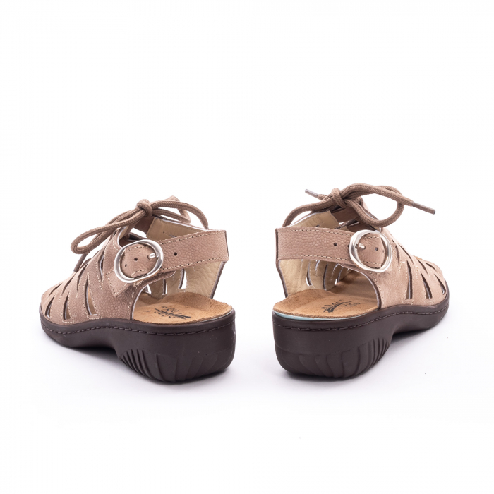 Sandale dama casual piele naturala nabuc Pass 450 03-2, bej 7
