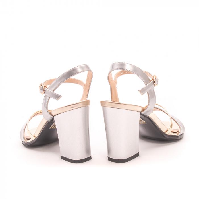 Sanda eleganta 7104-5 argintiu