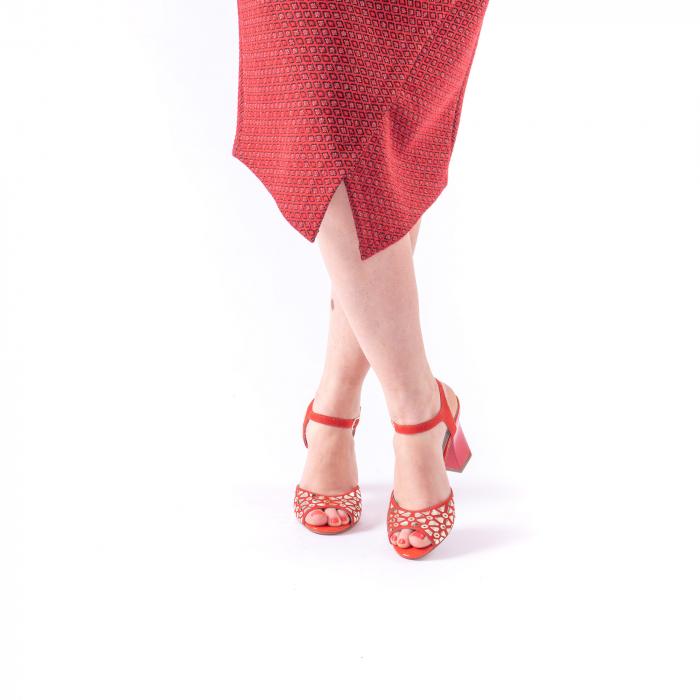 Sandale dama elegante Epica OE8643 05-2, rosu 3