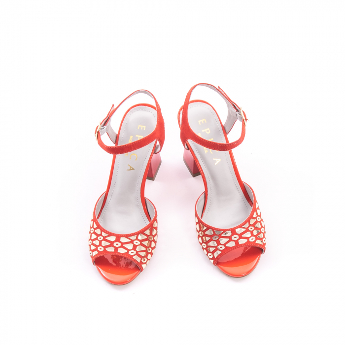 Sandale dama elegante Epica OE8643 05-2, rosu 1