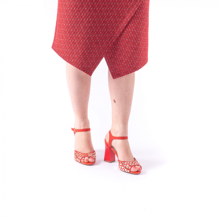 Sandale dama elegante Epica OE8643 05-2, rosu 5