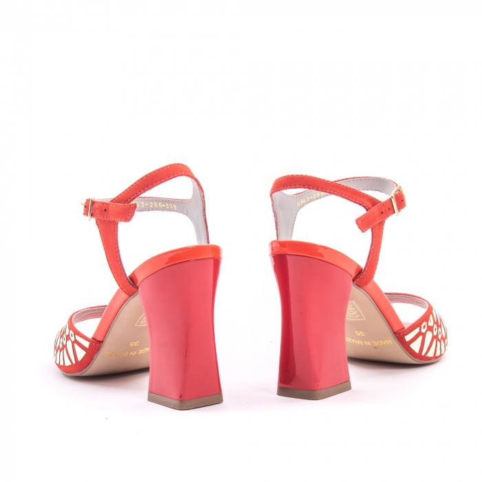 Sandale dama elegante Epica OE8643 05-2, rosu 2
