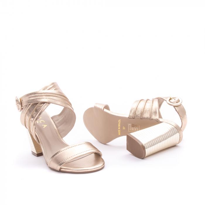 Sandale dama elegante piele naturala Epica oe8785-274, auriu 2