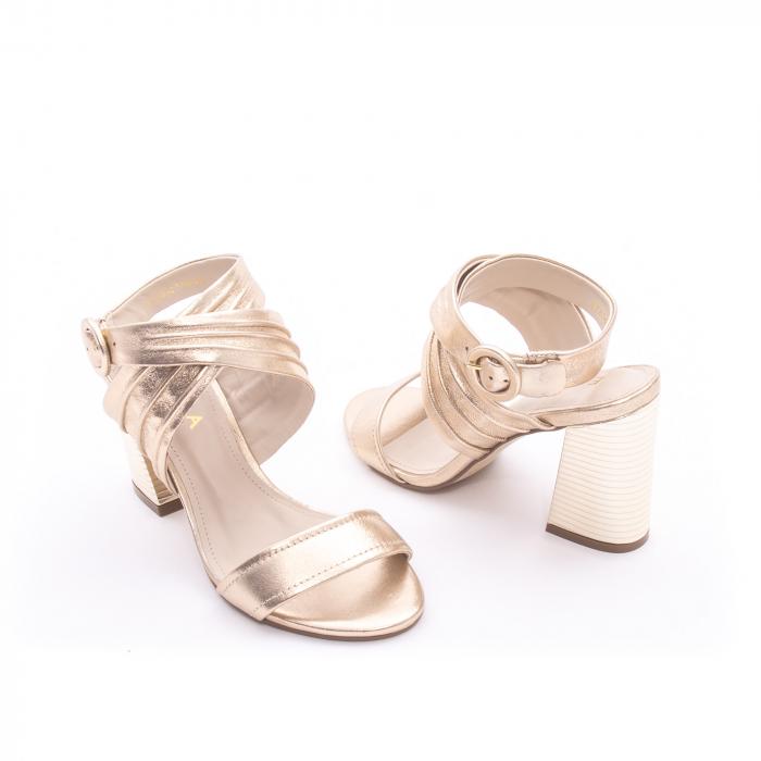 Sandale dama elegante piele naturala Epica oe8785-274, auriu 3
