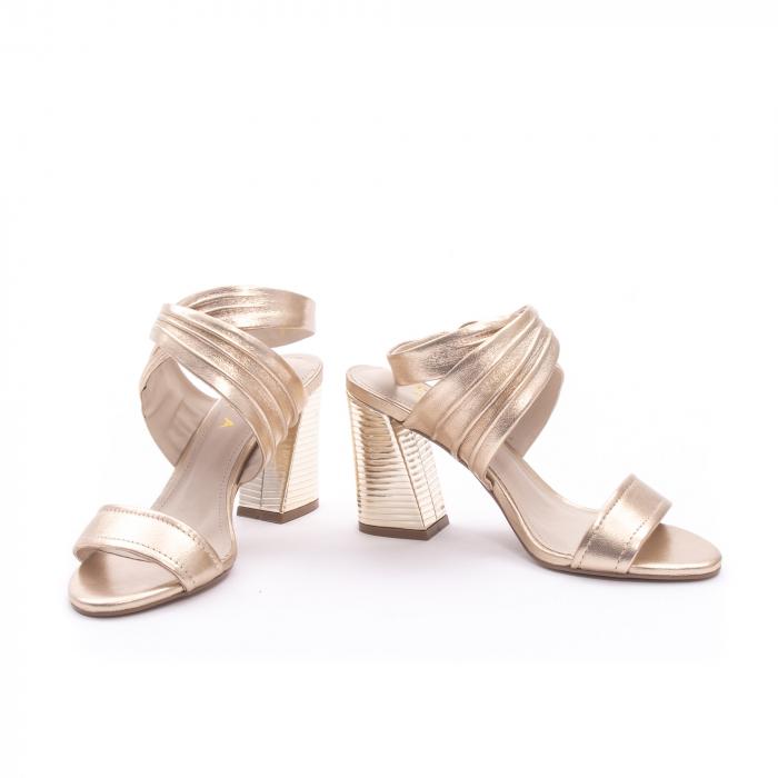 Sandale dama elegante piele naturala Epica oe8785-274, auriu 4