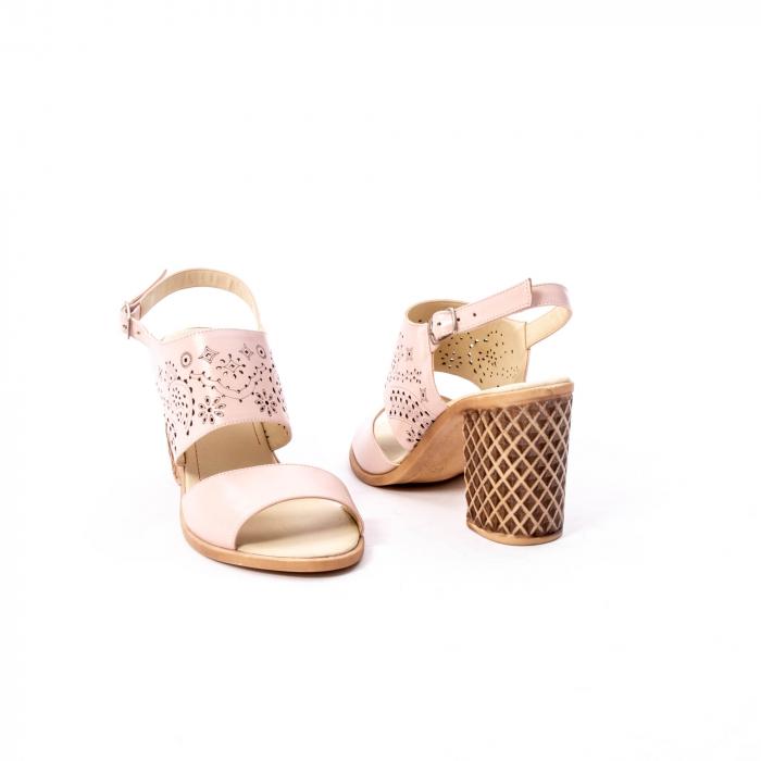 Sandale dama elegante, piele naturala, Nike Invest nk1094 B, nude 3
