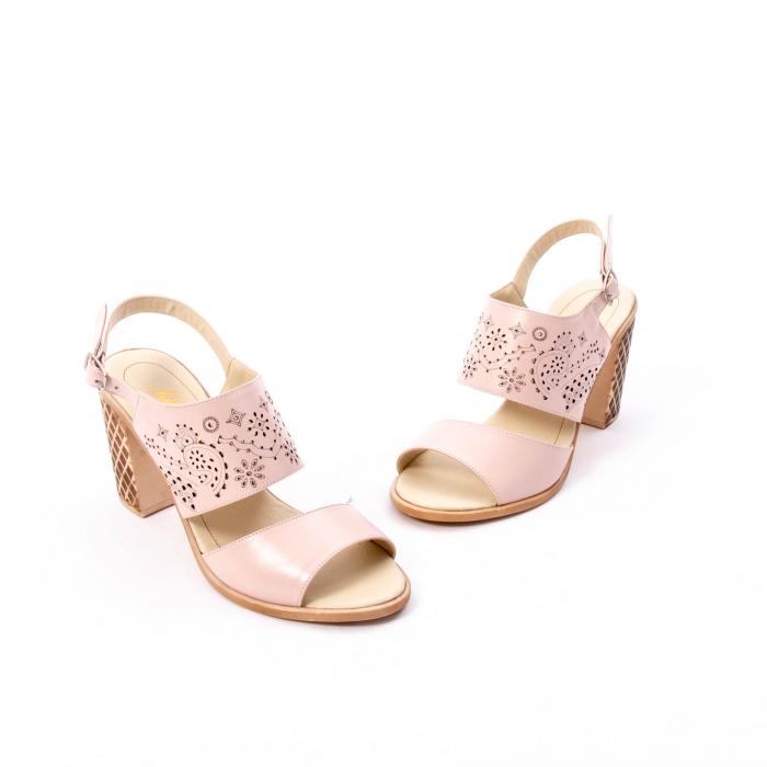 Sandale dama elegante, piele naturala, Nike Invest nk1094 B, nude 1