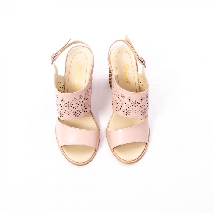 Sandale dama elegante, piele naturala, Nike Invest nk1094 B, nude 5