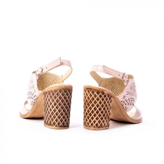 Sandale dama elegante, piele naturala, Nike Invest nk1094 B, nude 6