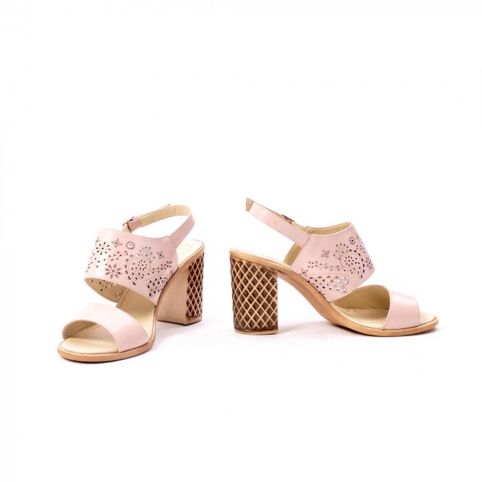 Sandale dama elegante, piele naturala, Nike Invest nk1094 B, nude 4