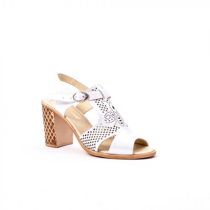 Sandale dama elegante, piele naturala, Nike Invest nk238, alb 0