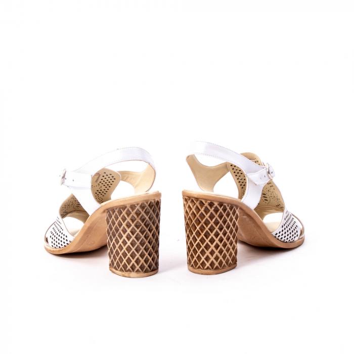 Sandale dama elegante, piele naturala, Nike Invest nk238, alb 6
