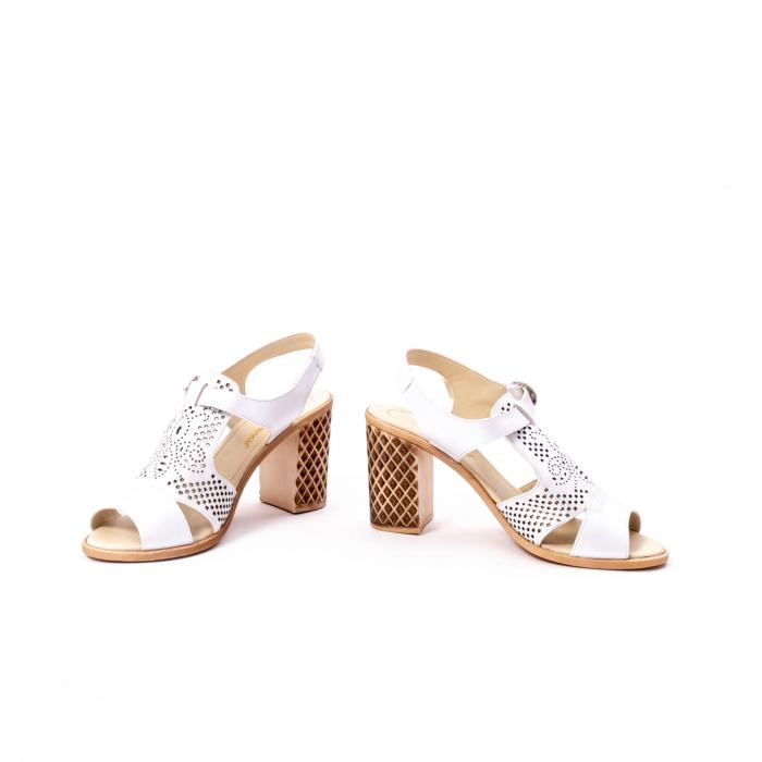 Sandale dama elegante, piele naturala, Nike Invest nk238, alb 4