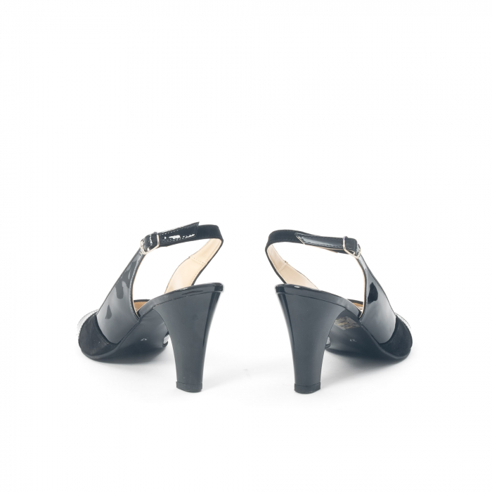 Sandale dama elegante piele naturala, Nike Invest 774 nlb, negru 6