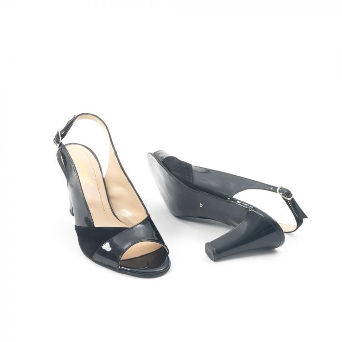Sandale dama elegante piele naturala, Nike Invest 774 nlb, negru 3