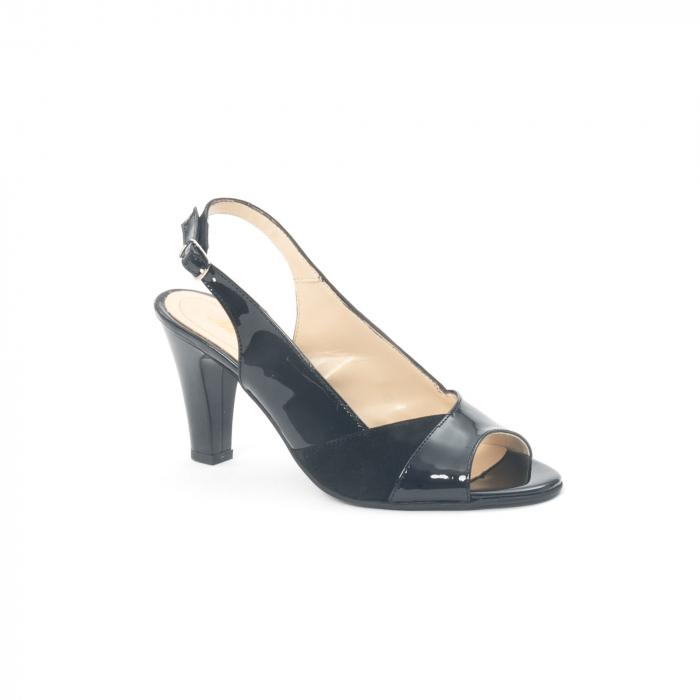 Sandale dama elegante piele naturala, Nike Invest 774 nlb, negru 0