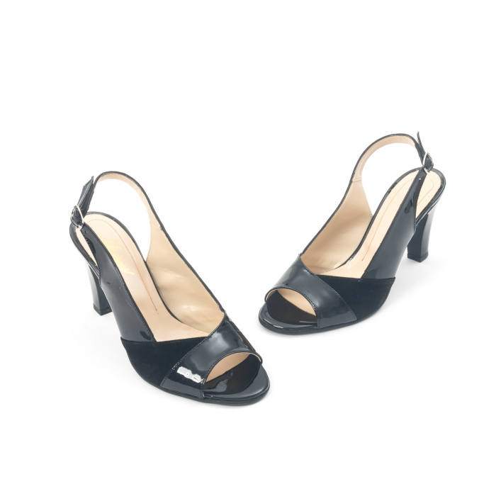 Sandale dama elegante piele naturala, Nike Invest 774 nlb, negru 1