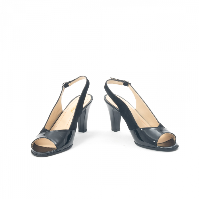Sandale dama elegante piele naturala, Nike Invest 774 nlb, negru 4