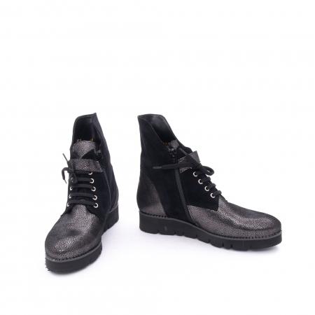 Ghete dama casual cu talpa groasa Nike Invest G1159, negru-argintiu3
