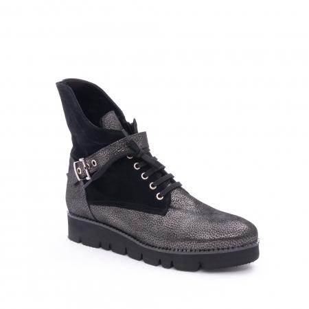 Ghete dama casual cu talpa groasa Nike Invest G1159, negru-argintiu0